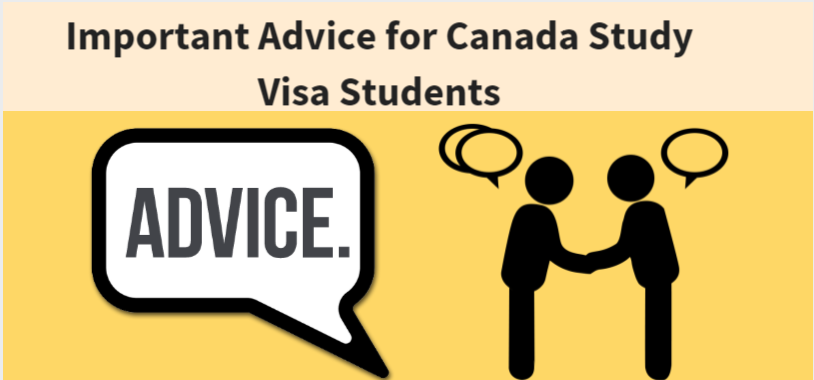 Important Advice for Canada Study Visa Students