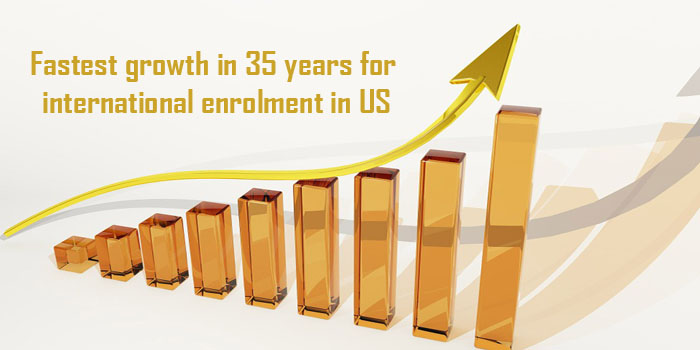 Fastest growth in 35 years for international enrolment in US