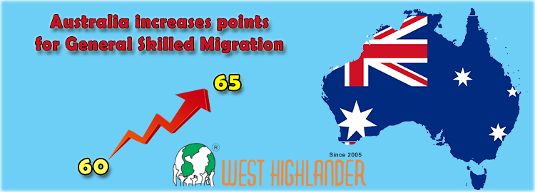 Australia increases points for General Skilled Migration