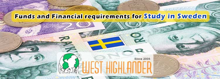 Funds and Financial requirements for Study in Sweden