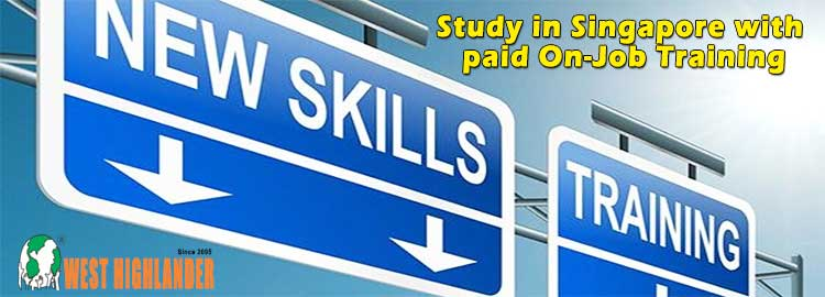 Study in Singapore with paid On-Job Training