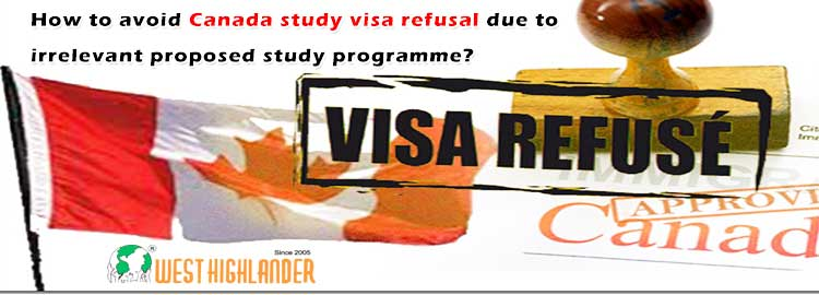 How to avoid Canada study visa refusal due to irrelevant proposed study programme?