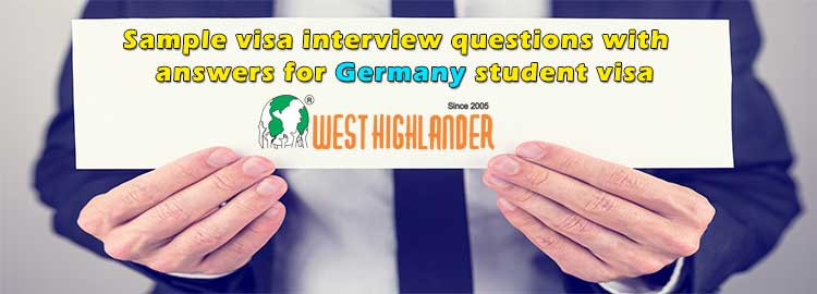 Sample visa interview questions with answers for Germany student visa