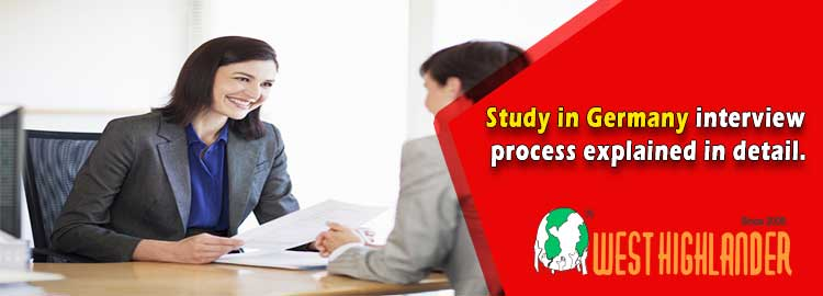 Study in Germany interview process explained in detail.