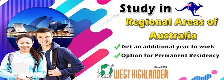 Study in Australia, Regional Areas and get an additional year to work and option for Permanent Residency for Australia